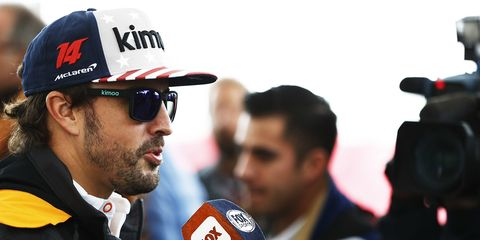 Fernando Alonso arrived in Texas Thursday for presumably his last F1 U.S. Grand Prix.