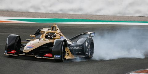 Sights from the Formula E Series pre-season testing at Valencia Circuit Ricardo Tormo, Spain,  Oct. 16-19, 2018.