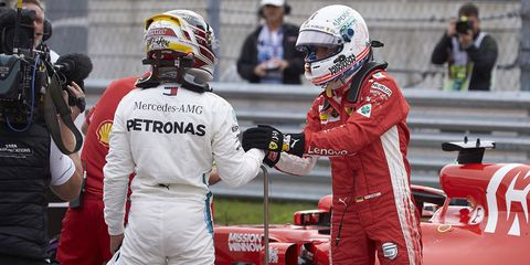 Lewis Hamilton and Sebastian Vettel are separated by 70 points after the US Grand Prix.