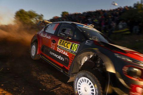 Sights from the WRC Rally de España, Sunday Oct. 28, 2018.