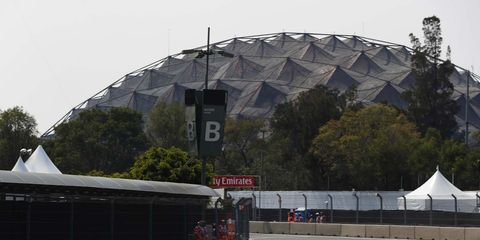 Sights from the Autódromo Hermanos Rodríguez ahead of the F1 Mexican Grand Prix, Friday Oct. 26, 2016.