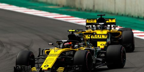 Carlos Saenz Jr., left, and Nico Hulkenberg, right, are carrying Renault's F1 hopes this season.