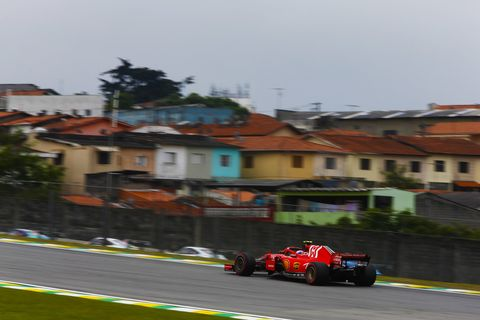 Sights from the F1 action at Interlagos  ahead of the  Brazilian Grand Prix Saturday Nov. 10, 2018
