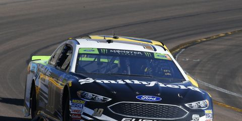 Aric Almirola came up three spots short of racing for a NASCAR Cup Series championship next weekend at Homestead-Miami Speedway.