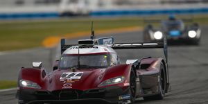 No. 77 Mazda Team Joest driver Oliver Jarvis won the pole in record time at Daytona.