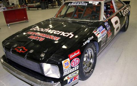 NASCAR followers will quickly recognize Earnhardt Sr.'s '77 Nova, which took the checkered flag at Caraway, Daytona, Rockingham and Charlotte during the in '82 and '83 seasons.