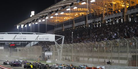 Sights from the F1 Bahrain Grand Prix, Sunday March 31, 2019.