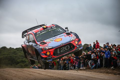 Sights from the WRC Rally Argentina Sunday April 28, 2019.
