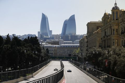 Sights from the Baku City Circuit ahead of the F1 Azerbaijan Grand Prix Saturday April 27, 2019.