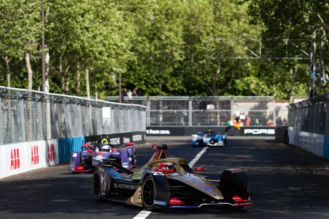 Sights from the Formula E Paris E-Prix Saturday April 27, 2019.