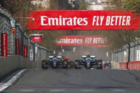 Sights from the F1 Azerbaijan Grand Prix, Sunday April 28, 2019.
