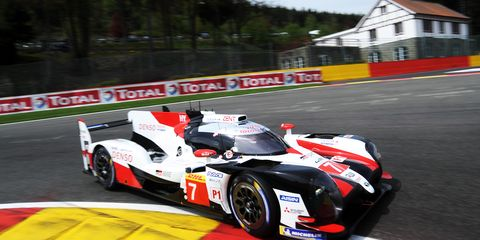 Kamui Kobayashi and Mike Conway are second in the WEC standings, but they will start from the pole at Spa ahead of their sister car.