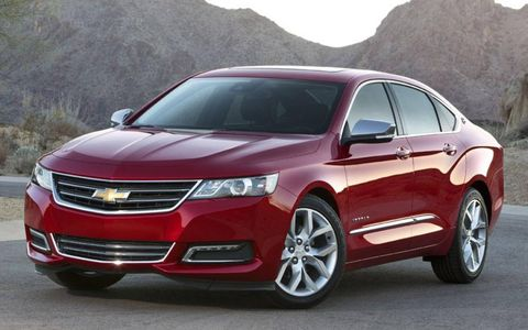 The hood of the new 2014 Chevrolet Impala is supposed to take some design cues from the Chevy Camaro.