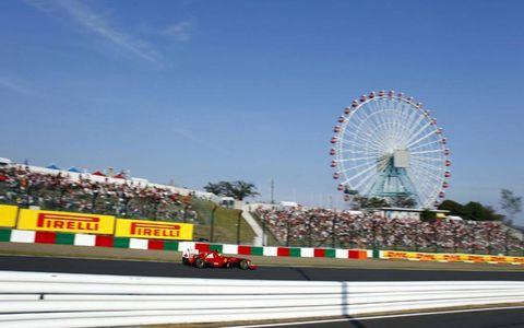 Ferrari's Felipe Massa makes his way around Japan's Suzuka Circuit during Formula One's Japanese Grand Prix on Oct. 9. Photo by: Steven Tee/LAT Photographic