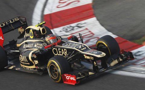2012 Korean Grand Prix: Romain Grosjean, Lotus E20 Renault.