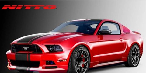 The 2014 Mustang GT by Nitto tires sports a 3dCarbon body kit, BASF red finish and some engine tweaks.