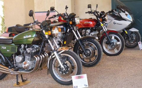 Motorcycles with six cylinders