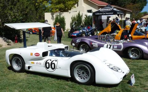 The 1966 Chaparral 2E and the 1967 Honker II Can-Am cars