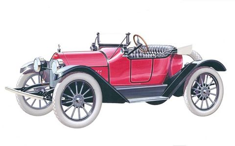 1914 Chevrolet Royal Mail Roadster.