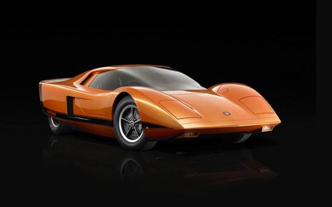 A front-three quarters view of the 1969 Holden Hurricane concept