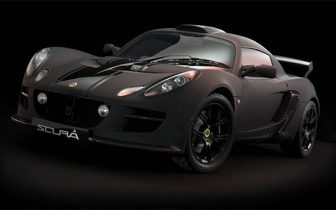 "Lotus Exige Scura. Scura means ""dark"" in Italian. Can be viewed at the Tokyo Auto Show Oct. '09."