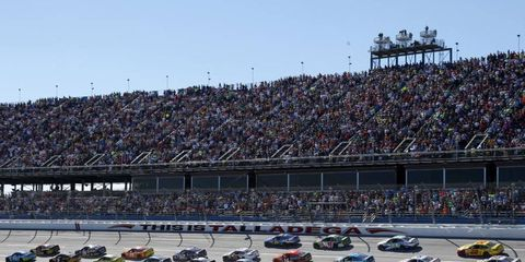 The NASCAR Sprint Cup race at Talladega gets underway.