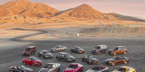 This photo contains $5,250,000 worth of AMGs with a total of 16,428 horsepower.