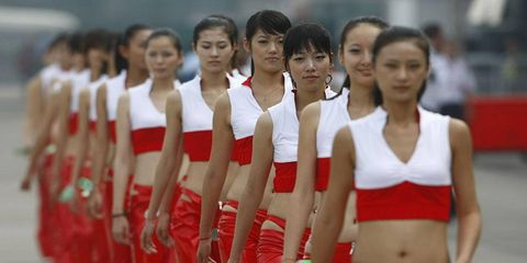 Chinese Grand Prix grid girls