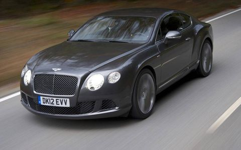 The sticker price on the 2013 Bentley Continental GT Speed starts at just under $218,000.