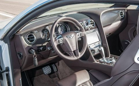 The cockpit of the 2013 Bentley Continental GT Speed.