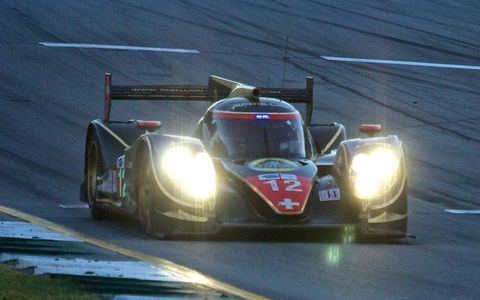 The winner at Petit Le Mans was the Rebellion Racing Lola B12/60 Toyota.