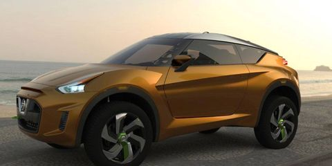 Nissan displayed its Extrem CUV concept at the auto show in Sao Paulo, Brazil.