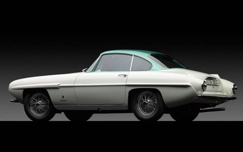 This car is the only Aston Martin badged Supersonic out of the entire series of Ghia designs.