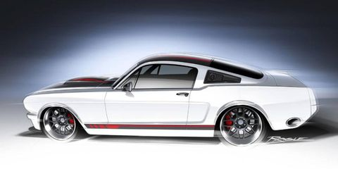 """The Ringbrothers will debut the redesigned '65 Mustang Fastback dubbed """"Blizzard"""" at the 2013 SEMA show in Las Vegas Nov. 5."""