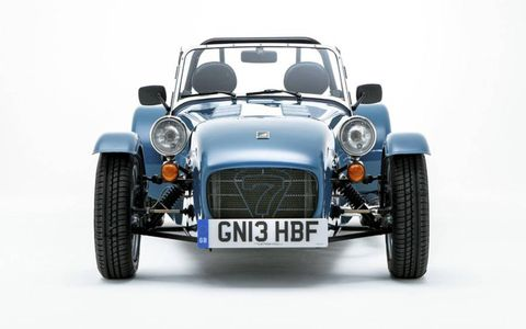 The Caterham Seven 160 and 165 are the company's entry-level models.
