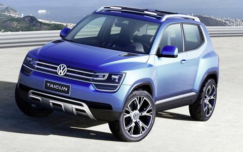 The Volkswagen Taigun concept previews a production SUV due to launch in about three years.