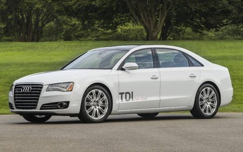 The 2014 Audi A8L TDI boasts an EPA estimated 24 city/ 36 highway/ 28 combined miles per gallon.