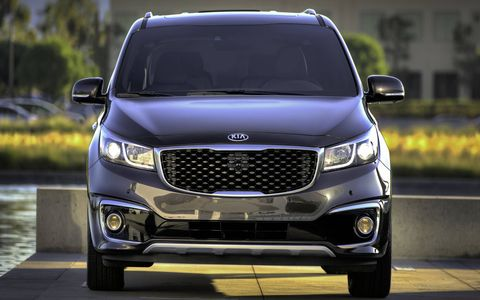 The 2016 Kia Sedona SX Limited adds side sills with chrome accents and the eight passenger technology package standard.