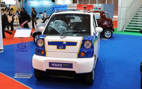 The future of the police car at the Tokyo auto show.
