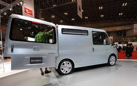 Shown here at the Tokyo auto show.