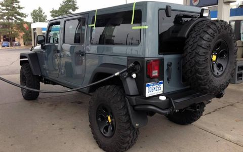 With components from American Expedition Vehicles, this JK Six-Pak concept vehicle has seating for six.