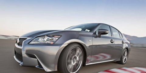 The Lexus GS 350 F Sport gets an extremely aggressive body kit