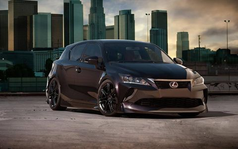 The paint color on the Lexus CT 200h by Five Axis is called 'dark passage'