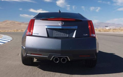 Sharp angles make the 2012 Cadillac CTS-V Coupe an attention-getter no matter how you view it.