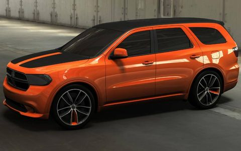 Dodge will be turning heads at this year's SEMA show with a special Dodge Durango Tow Hook image vehicle designed by Mopar Underground. The Tow Hook infuses a healthy dose of eye-catching style to the already-sporty Durango design. The vibrant four-coat orange and satin-black color scheme is executed both inside and out to make this Durango one of the most unique and exciting vehicles at the show.