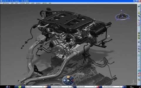 Chrysler engine in CATIA Version 6
