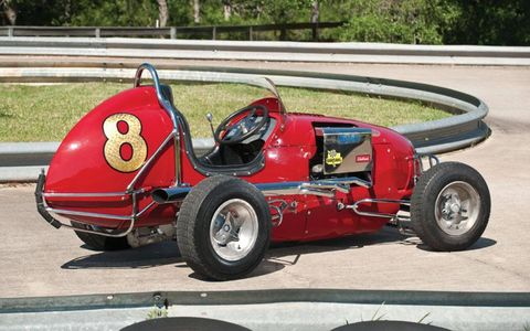 Thomas' collection included quirky vehicles like this 1948 Studebaker midget racer, which sold for $30,250.