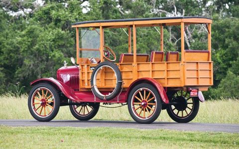 The oldest car in the auction, this 1919 Ford Model T depot hack, sold for $22,000.