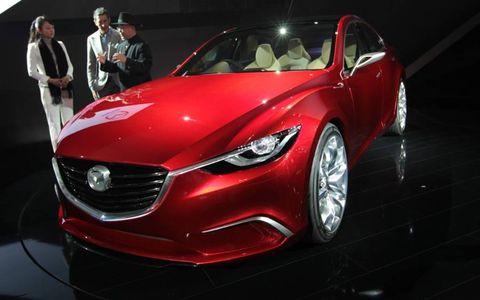 The Takeri uses Mazda's kodo design theme.