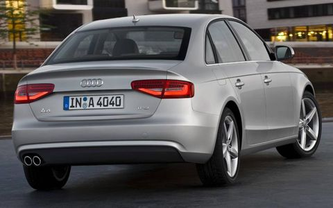 The rear of the Audi A4 gets changes for 2013.